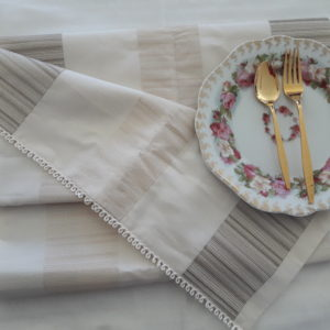 Cream Silk Table Runner