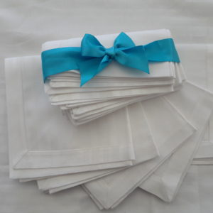 White Cotton Napkins - Lunch Style